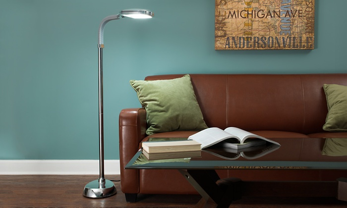 Trademark Home Sunlight Floor Lamps: $34.99 For A Trademark Home Sunlight  Floor Lamp In Silver ...