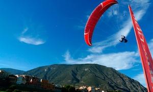 Parapent Organyà: Vuelo acrobático en parapente, degustación con opción a excursión en 4x4 para 1 o 2 desde 79,90 € con Parapent Organya