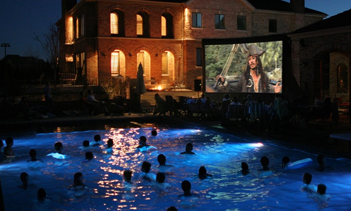 Geaux Movies - Broadmoor, Anderson Island, Shreve Isle: 14- or 23-Foot Movie-Screen Rental with Setup and Breakdown Included from Geaux Movies (50% Off)