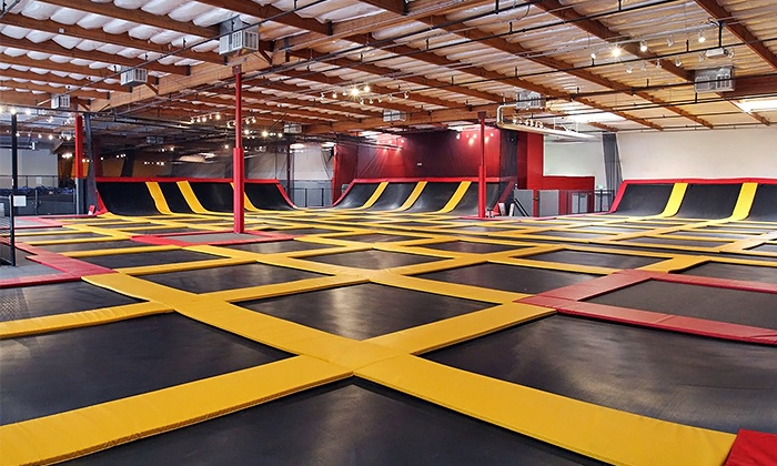 Aerosports Trampoline Parks - Corona: Hour of Jumping for Two or Four or Four AeroFit Classes at Aerosports Trampoline Parks - Corona (Up to 55% Off)