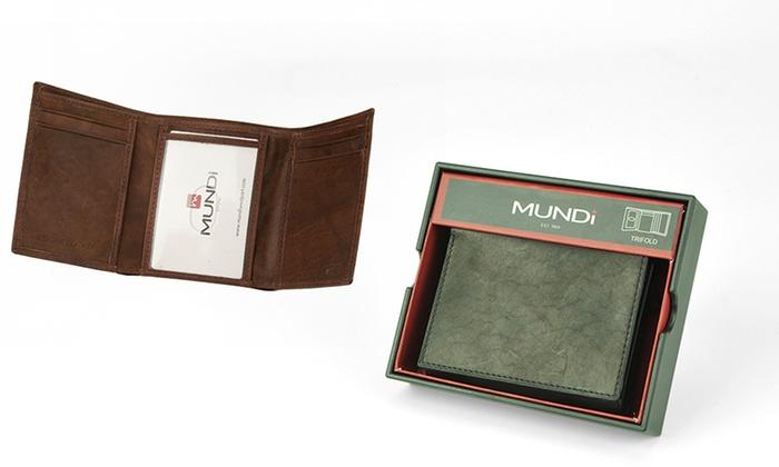 Mundi Men's Leather Wallet: Mundi Men's Leather Wallet. Multiple Styles Available. Free Returns.