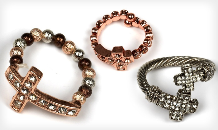 J'adore Bijoux Cross Jewelry: J'adore Bijoux Cross Rings and Necklace Sets (Up to 80% Off). Multiple Styles Available. Free Returns.