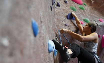 image for Clip'N Go Indoor Rock-Climbing Session for One or Two at Adventure Rock Climbing Gym (Up to 42% Off)