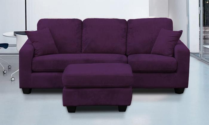 Maddison Fabric Chaise Sofa Groupon Goods