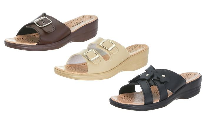 Slip-on Wedge Sandals