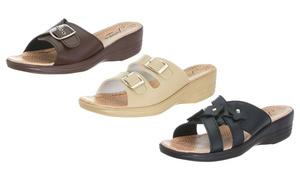 Junie's Women's Comfort Slip-on Wedge Sandals in Multiple Styles
