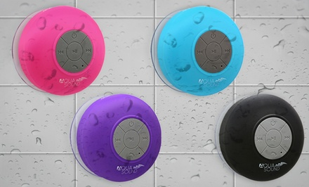 Aduro AquaSound Waterproof Bluetooth Shower Speaker with Built-In Mic