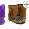 Muk Luks Girls' Slipper Boots