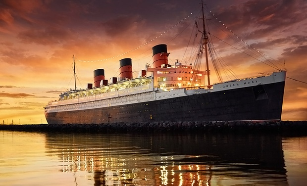 The Queen Mary - Long Beach, CA: Stay with Grand Passport Package for Two and Daily Self Parking at The Queen Mary in Long Beach, CA. Dates into August.
