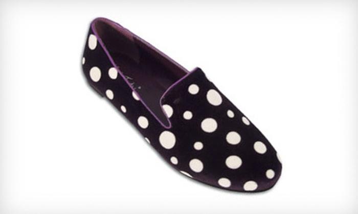 $24 for a Pair of BootsiTootsi Deep Purple Polka Dot Women's Casual Slip-Ons ($46 List Price). Free Shipping.