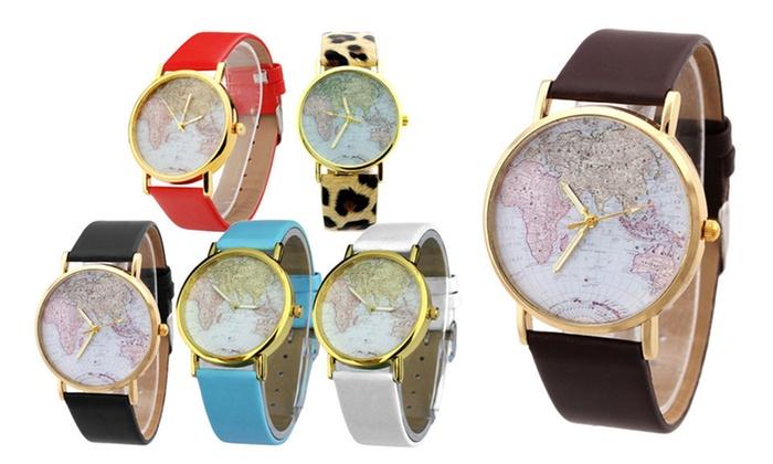 Orologio vintage con mappamondo