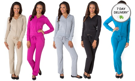 Women's Terry Solid Tracksuit. Multiple Colors Available. Free Returns.