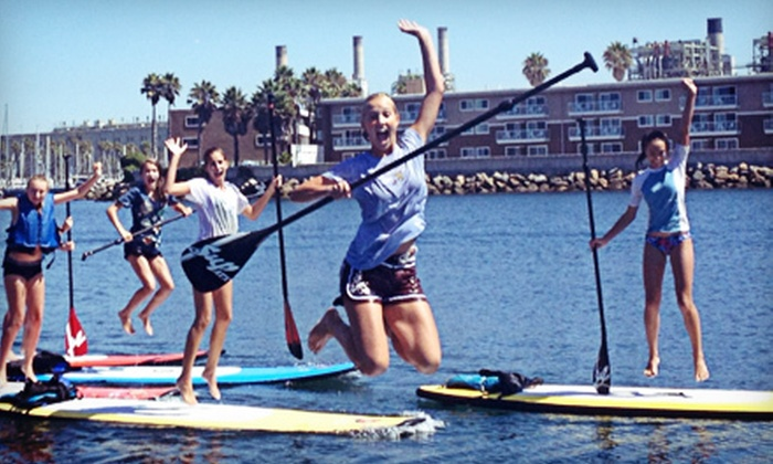 Olympus Board Shop - Redondo Beach: 1 or 2 Standup-Paddleboard Yoga Classes or Standup-Paddleboard Lesson for 2 or 4 from Olympus Board Shop (Up to 52% Off)