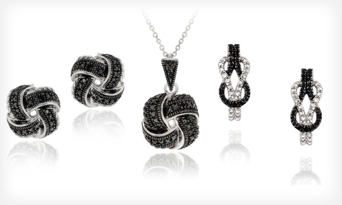 Diamond-Accented Love-Knot Jewellery: Diamond-Accented Love-Knot Jewellery (Up to 75% Off). Eight Styles Available. Free Shipping.
