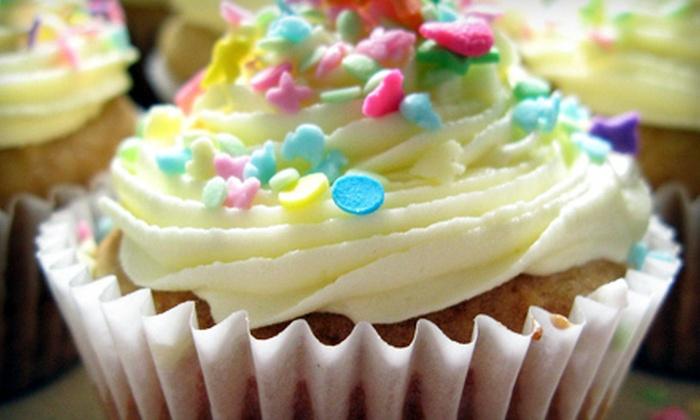 Sweet Flour Pots - Charlotte: One Dozen or Two Dozen Cupcakes or Cake Pops at Sweet Flour Pots (Up to 55% Off)