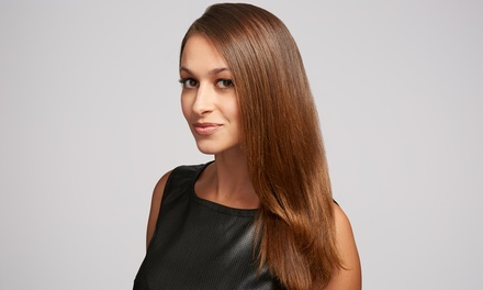 Brazilian Blowout, Cut, and Style at Hair by Heather (Up to 54% Off)