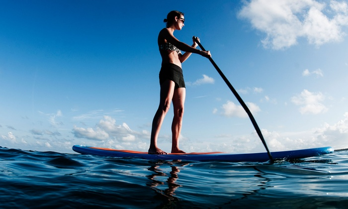 Houston Kiteboarding  - Texas City: One-Hour Guided Stand-Up Paddleboard Tour for One, Two, or Four from Houston Kiteboarding (Up to 66% Off)
