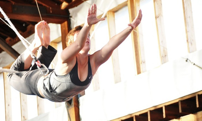 Emerald City Trapeze Arts - Industrial District East: $42 for a Two-Hour Flying-Trapeze Class with Registration Fee ($79 Value)