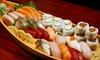 Menu sushi con barca da 40 pezzi