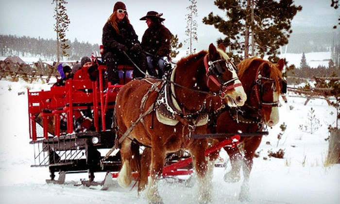 Sombrero Stables  - Granby: Hot-Cocoa or Dinner Sleigh Ride for Two or Four at Sombrero Stables (Up to 55% Off)