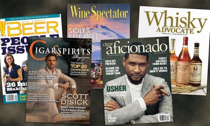 Cigar Wine Spirits Magazines Groupon Goods