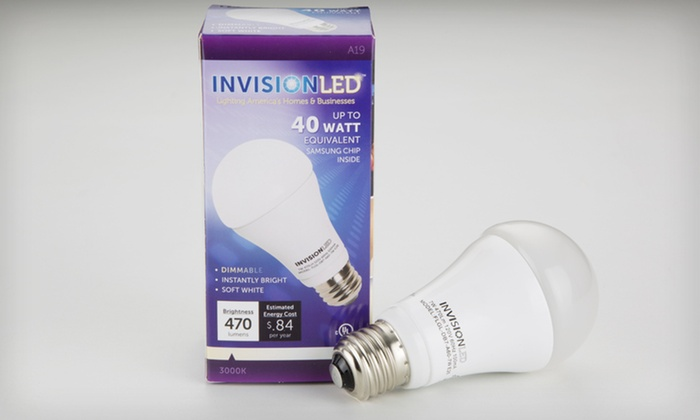 InVision LED A19 7W LED Bulbs: One, Two, or Four InVision LED A19 7-Watt LED Dimmable Bulbs (Up to 51% Off). Free Shipping and Free Returns.
