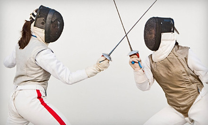 Olympia Fencing Academy - University City: 1 Private Lesson and 10 Group Classes, 10 Private Lessons, or Party for 15 at Olympia Fencing Academy (Up to 77% Off)