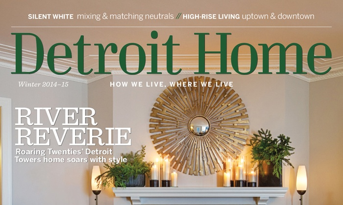 Detroit Home: $14 for a Three-Year Magazine Subscription to Detroit Home ($22.95 Value)