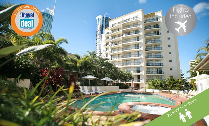 Gold Coast, Surfers Paradise: From $399PP for a 5-Night Getaway with Flights and Wine at Palazzo Colonnades - Queensland