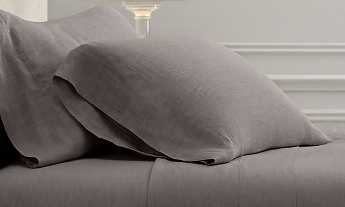 Groupon Goods: New Season Home French Linen Sheet Set from $69.99—$114.99 (Shipping Included)