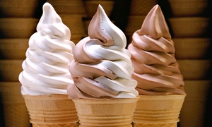Applegate Farm: Vanilla and Chocolate Ice-Cream Cake or Punch Card for 10 Soft-Serve Ice-Cream Cones at Applegate Farm (Up to 54% Off)