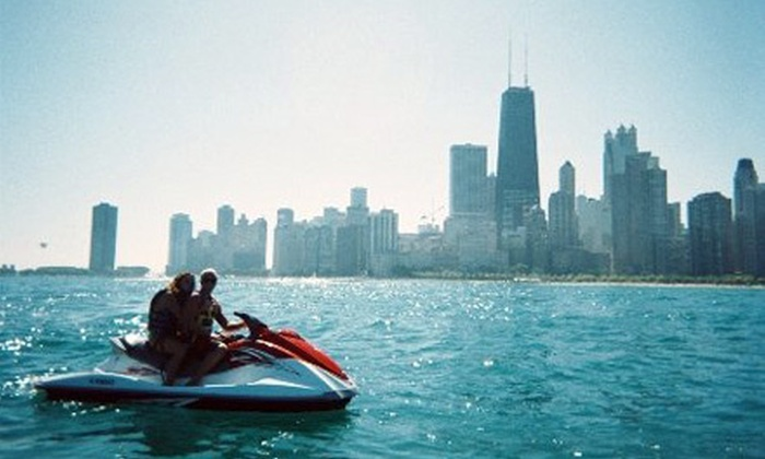 Jet Ski Chicago - Lincoln Park: One-Hour Guided Jet-Ski Tour Through Chicago from Jet Ski Chicago (Half Off). Four Options Available.