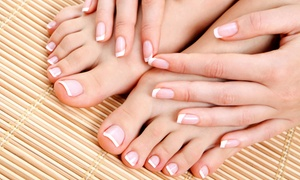 J Ashley Salon: Mani-Pedi or $25 for $50 Worth of Beauty Services at J Ashley Salon (Up to 54% Off)