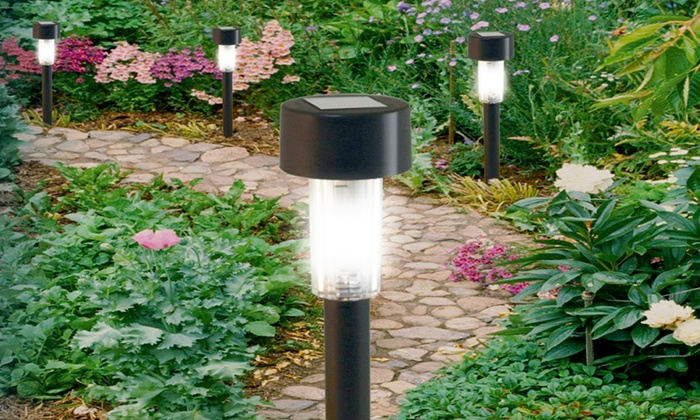 Ten solar post garden lights groupon goods babz media ltd ten solar powered post garden lights for 998 aloadofball Image collections