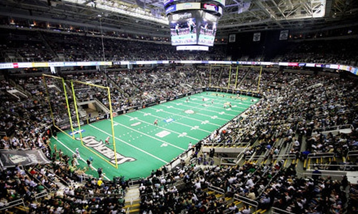 San Jose SaberCats  - Central San Jose: San Jose SaberCats Game Against Iowa Barnstormers at HP Pavilion on July 14 (Up to 65% Off). Two Options Available.