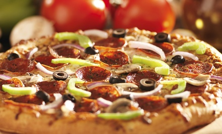 Pizza Dinner with Garlic Bread and Salad for Carry-Out or Dine-In from Red Tomato Pizzeria (Up to 44% Off)