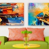 Boat Paintings on Gallery-Wrapped Canvas