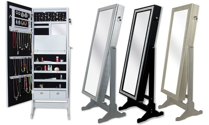 . Iconic Home Full Length Mirror Jewelry Armoire   Groupon