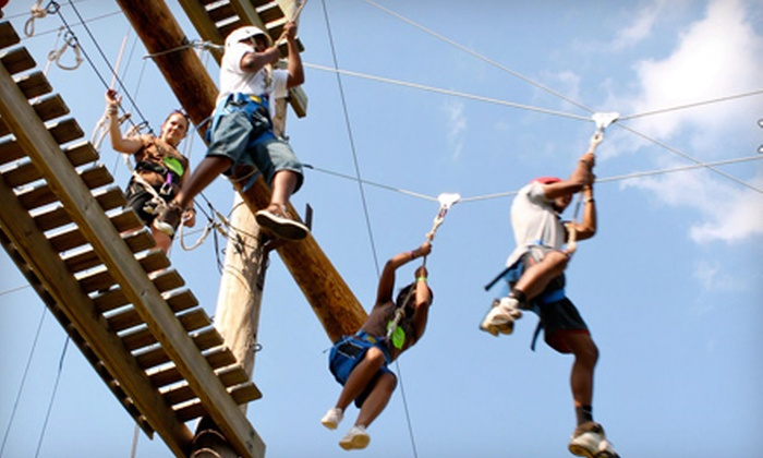 Shiloh Camp - Northeast Oklahoma City: Ropes-Course Adventure at Shiloh Camp on June 22 or July 6 (52% Off)