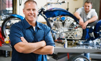 image for Motorcycle MOT or Motorcycle Service, or Both at Colin's MOT & Service Centre (Up to 73% Off)
