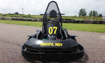 20 or 40 Laps of Go-Karting at Innisfil Indy Karting (Up to 51% Off)