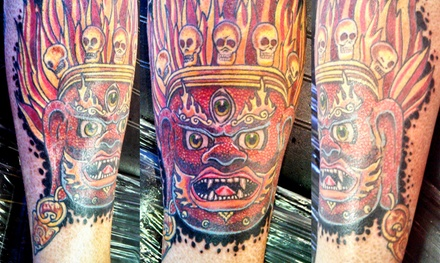 One or Three Hours of Tattooing at Fortune Cookie Tattoo (Up to 54% Off)