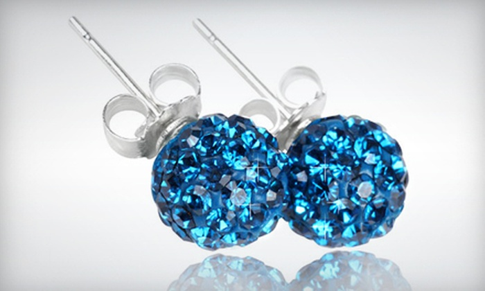 Belleza Jewelry: Authentic Austrian Crystal Post Earrings or Hanging Heart or Ball Crystal Earrings from Belleza Jewelry (Up to 67% Off)