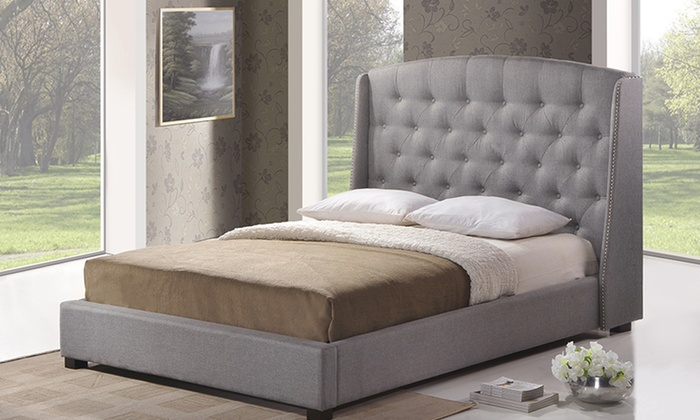 Modern Upholstered Bed Groupon Goods