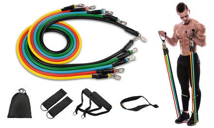 11-Piece Fitness Resistance Band Set: One ($26.95) or Two ($44.95)