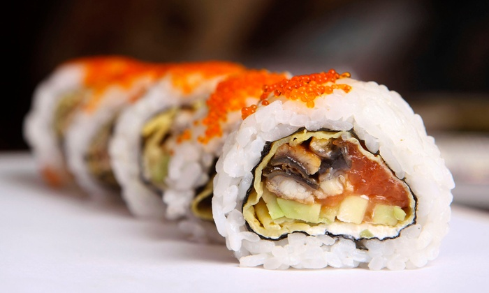 Sakura - Lee's Summit: Two Groupons, Each Good for Sushi and Asian Cuisine for Dinner for Two or Lunch at Sakura (50% Off)