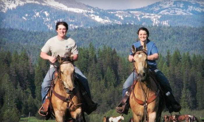 Western Pleasure Guest Ranch - Sandpoint: One- or Two-Night Lodge Stay for Two or Cabin Stay for Four at Western Pleasure Guest Ranch (Up to 56% Off)