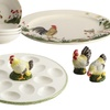 Paula Deen Southern Rooster Collection Serving Pieces