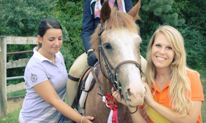 Stable Mates Equestrian Center - South Huntington: 60-Minute Riding Lesson for One or Two or One-Week Camp at Stable Mates Equestrian Center in Huntington (Up to 63% Off)