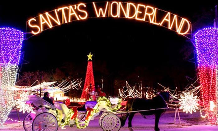 Santa's Wonderland - College Station: Santa's Wonderland with Hayride for Two or Four (Up to 57% Off). Four Options Available.